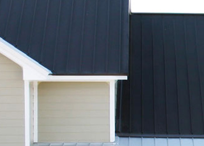 Home with metal siding